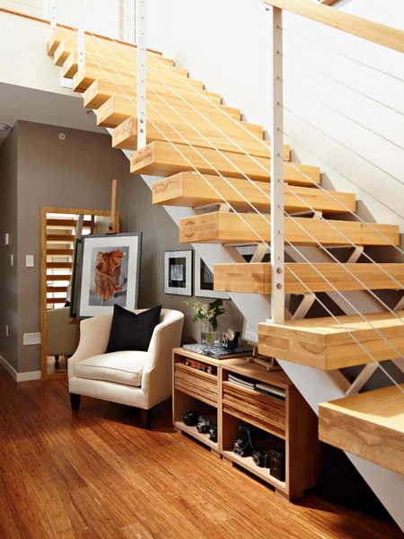 Storage Idea Under Stairs