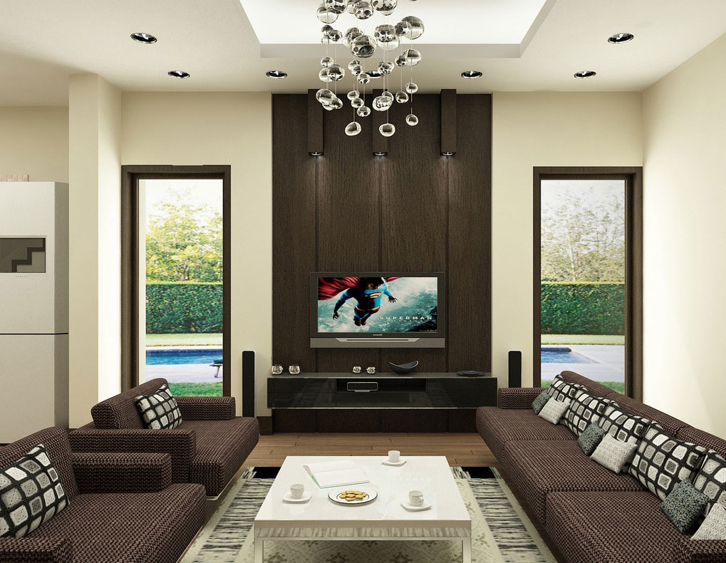 modernist tv unit design for living room ipc381 lcd wall unit design