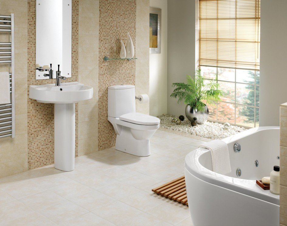 Beau Stylish Simple Small Bathroom Design