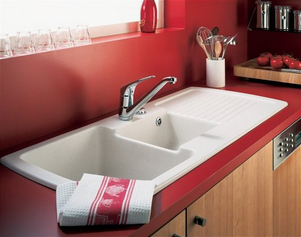 Terrific White Kitchen Sink Design