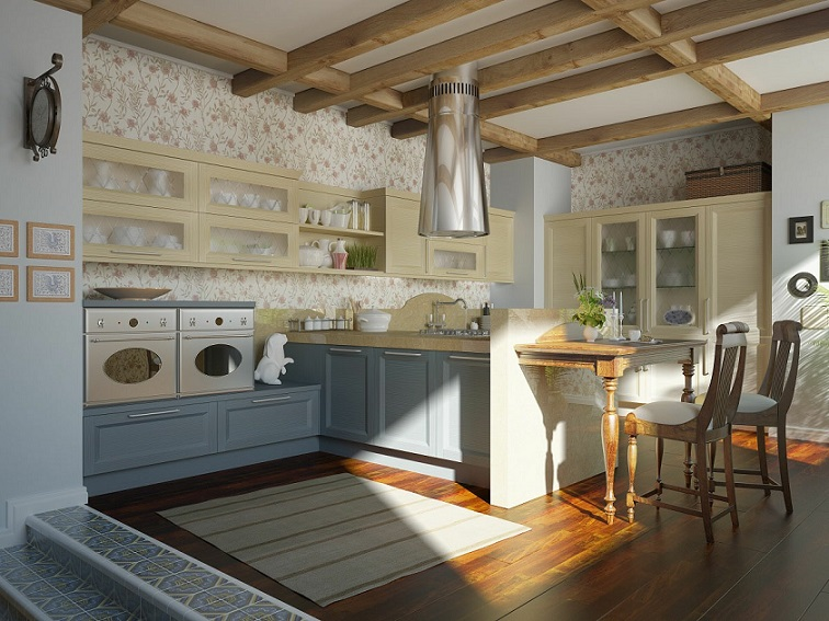 Traditional Kitchen Floral Motif Design 2