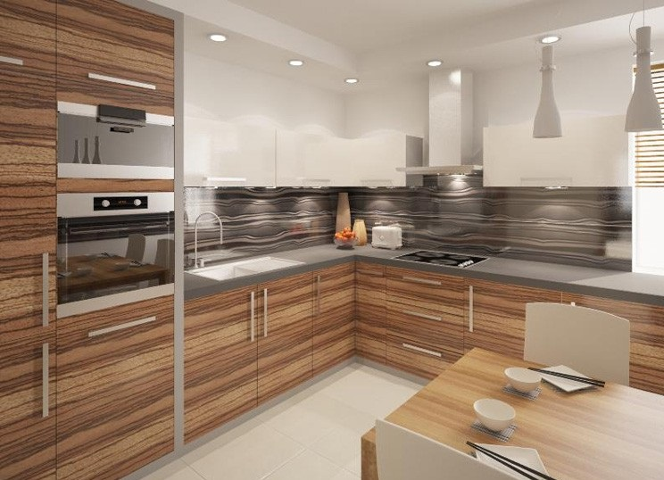Uk Based High Gloss Kitchen Cabinet Design Ipc400 - High Gloss ...