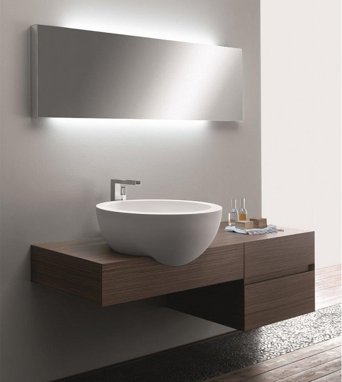 gorgeous bathroom design vanity unit plus mirror - Bathroom Design Ideas Italian