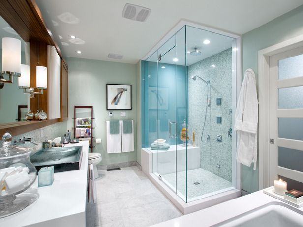 White Shower Room Decor