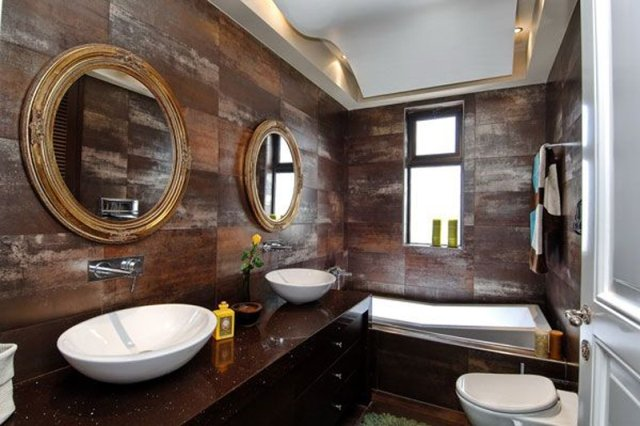 Wooden Bathroom Interior Concept