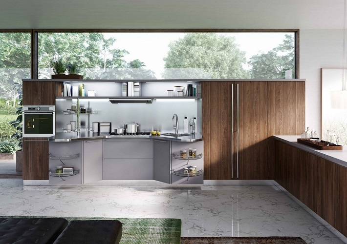 Wooden Kitchen Cabinet Interior