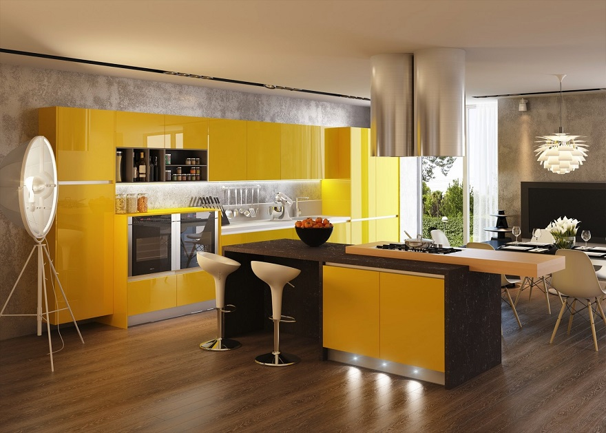 Yellow Kitchen Contrast