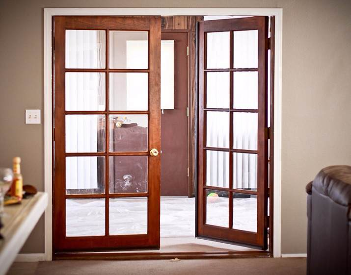 Interior French Door (5) · Wooden Glass Door Design
