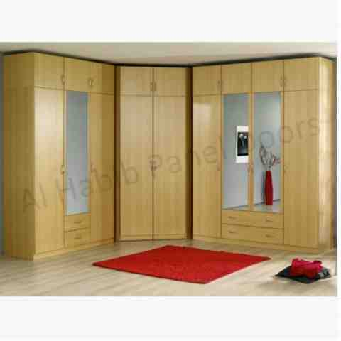 This is Fitted Wardrobes. Code is HPD311. Product of Wardrobes - Fitted wardrobes Furniture in Lahore, Pakistan, Fitted wardrobes are available in different patterns, Fixed Wardrobe with drawers -  Al Habib