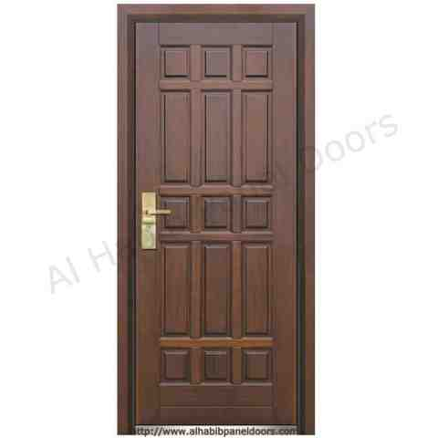 Solid wood doors doors al habib panel doors for Wooden single door design for home