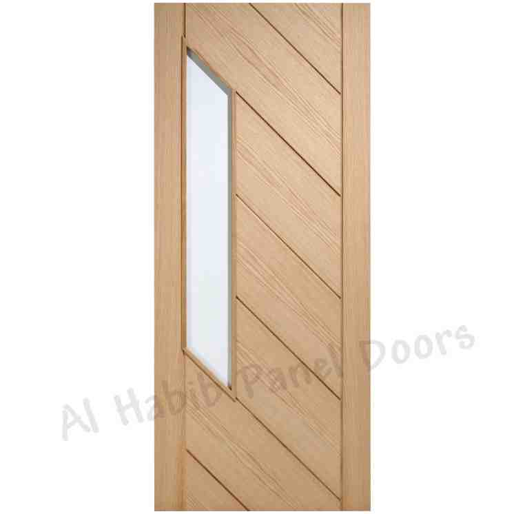 This is Ash Ply Pasting Glass Door. Code is HPD545. Product of Doors - Ash Double ply pasting solid inside glass door. Ash Stripes door. Ready on Order. Available in all sizes Al Habib