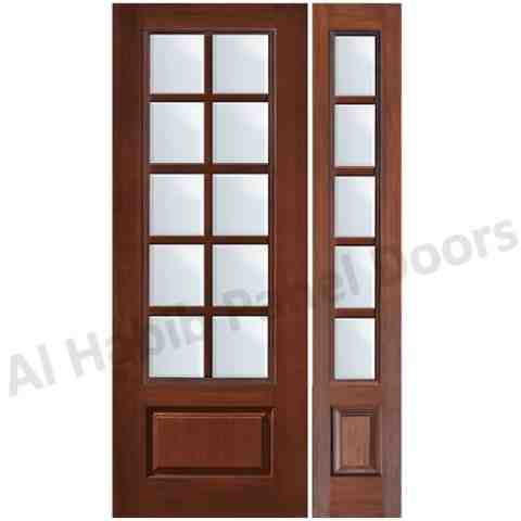 Wooden Panel Door With Glass Hpd533 Glass Panel Doors