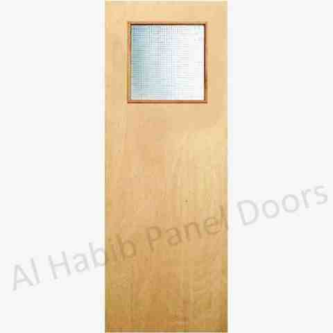 This is Flush Door With Side Vision Glass. Code is HPD510. Product of Doors - Commercial Ply Door WIth Side vision glass, Available on order for Schools, hospitals, hostels and rooms. Al Habib