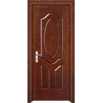 Fiberglass door 7 panel chocolate color hpd381 fiber for Door design and colour