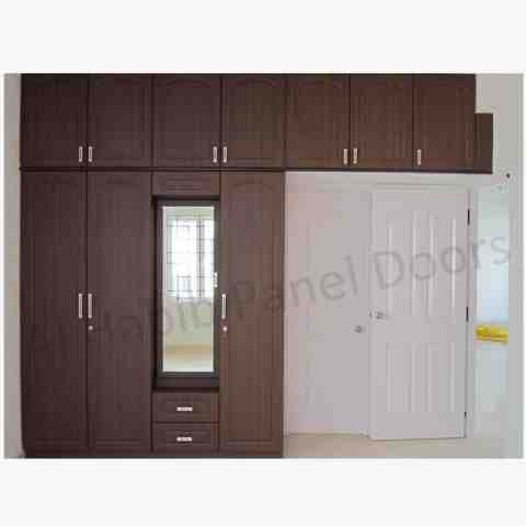 5 Doors Wooden Wardrobe Hpd441 Fitted Wardrobes Al Habib Panel Doors