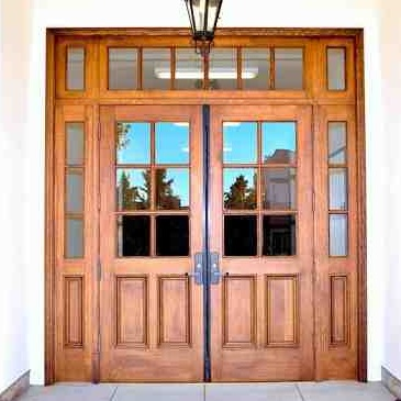 This Is Solid Single Panel Door With Glass Code HPD486 Product Of Doors