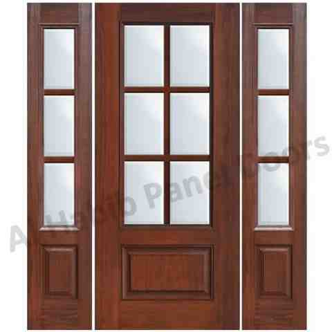 this is wooden door with glass and glass sides code is hpd482 product of