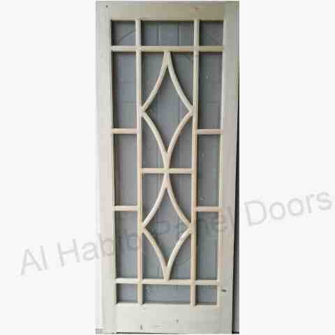 This is Imported Kail Wood Mesh Double Door Design. Code is HPD567. Product of Doors - Imported Pertal Wood mesh panel door design, Also available in ash wood, dayar wood, kail wood, dayar wood. Sizes available on order. Al Habib