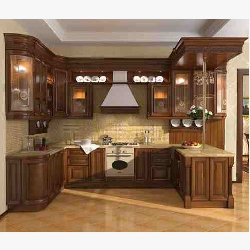 This Is Solid Wooden Kitchen Sample. Code Is HPD464. Product Of Kitchen    Ash · U003e
