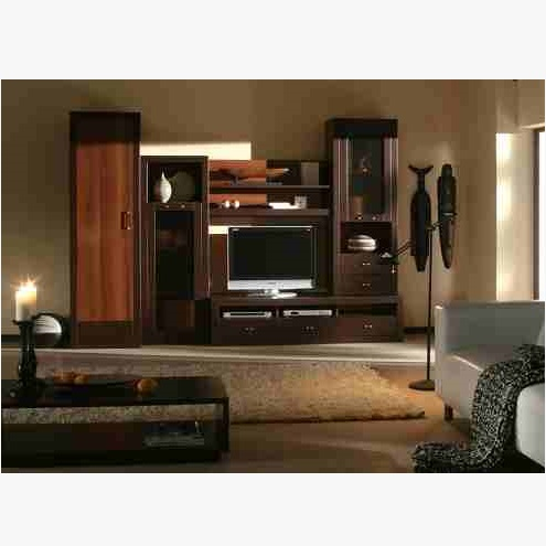 This is Wall Shelves And LCD Cabinet. Code is HPD548. Product of Furniture - Modern LCD Cabinet Design, PVC Wall Panel installed behind the cabinet. Al Habib
