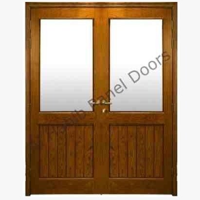 This is 3 Panel Glass  Door. Code is HPD173. Product of Doors - Wooden Door With Glass, Glass wooden Doors, Door with glass available in different design, custom design, Glass wooden double Doors -  Al Habib