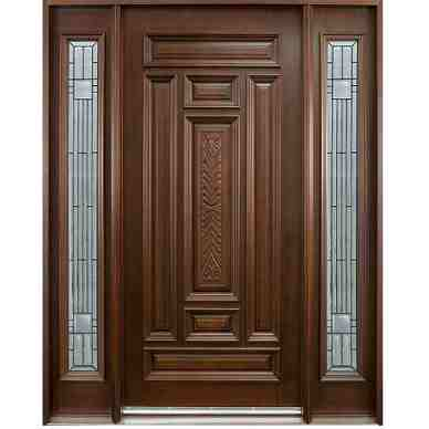 this is ash wood door with frame code is hpd416 product of doors