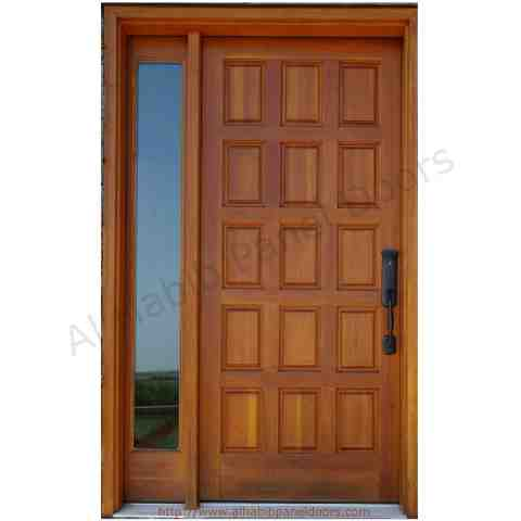 Solid Wooden Panel Door With .