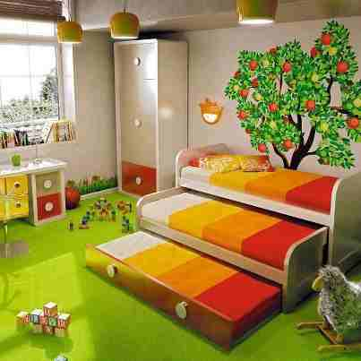 This is Double Beds Kids Room. Code is HPD210. Product of Furniture - Kids Furniture in Lahore, Pakistan, Kids beds, side table, Kids Study table, Kids Custom Furniture, Kids bed with drawers -  Al Habib