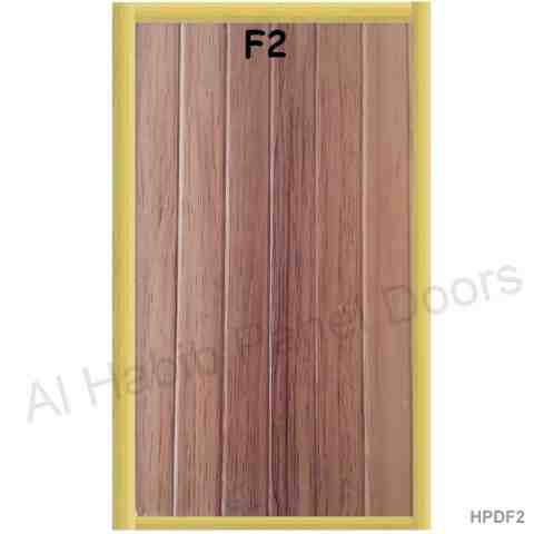 This is UPVC Laminated Plastic Door Color F1. Code is HPDF1. Product of Doors - PVC Plastic door PVC door with PVC frame. Reasonable price and quality product for more feel free to contact on given numbers Al Habib