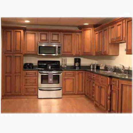 Solid wooden kitchen sample hpd464 kitchen cabinets al for Kitchen design pakistan