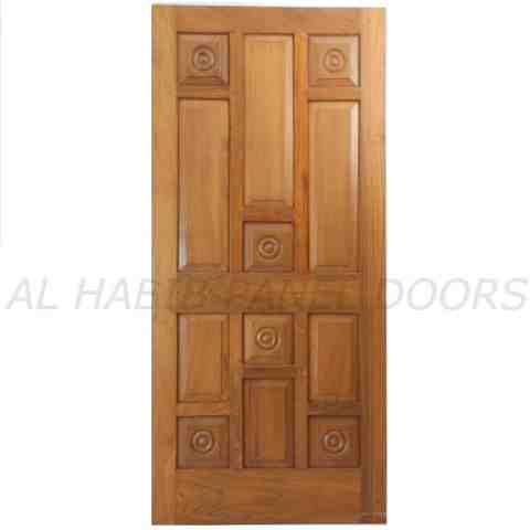 This is Five Panel Solid Door With Sides Frame. Code is HPD504. Product of Doors - Diyar Solid wood door, Avaiable in Pakistani Diyar, Kail, Pertal wood, Imported American Ash, Chinese Kail or Pertal wood. Available on order. Al Habib