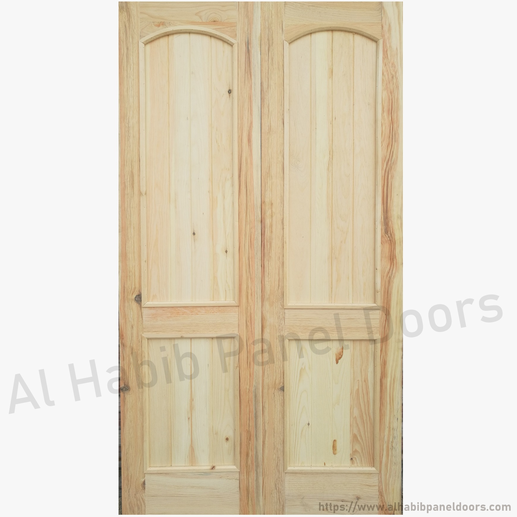 Main double door solid wood hpd111 main doors al habib for Doors with panels