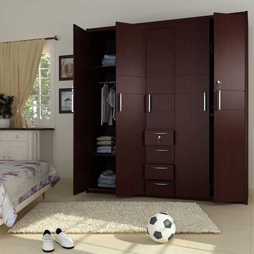 Bedroom Colour Catalogue Fitted Bedroom Cupboards Bedroom Paint Ideas Images Bedroom Decor Pom Poms: 5 Doors Wooden Wardrobe Hpd441