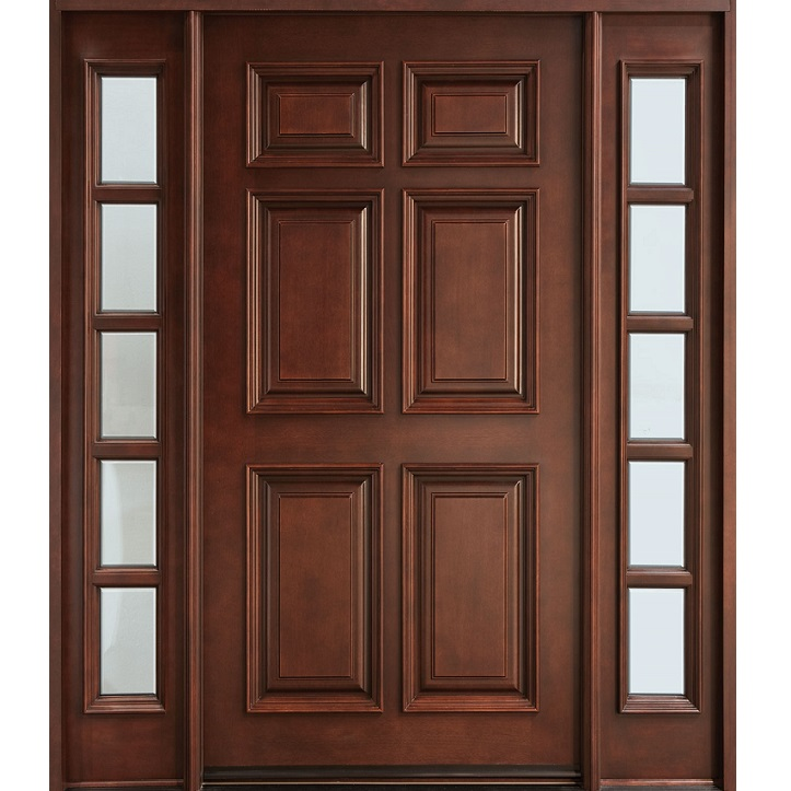 6 Panel Solid Wood Door