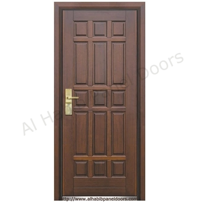 American Ash Wood Entry Door