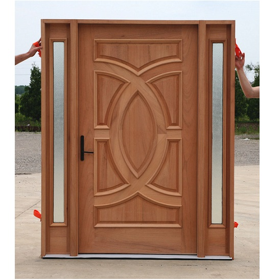 Single Solid Wood Door Hpd102 - Solid Wood Doors - Al Habib Panel Doors