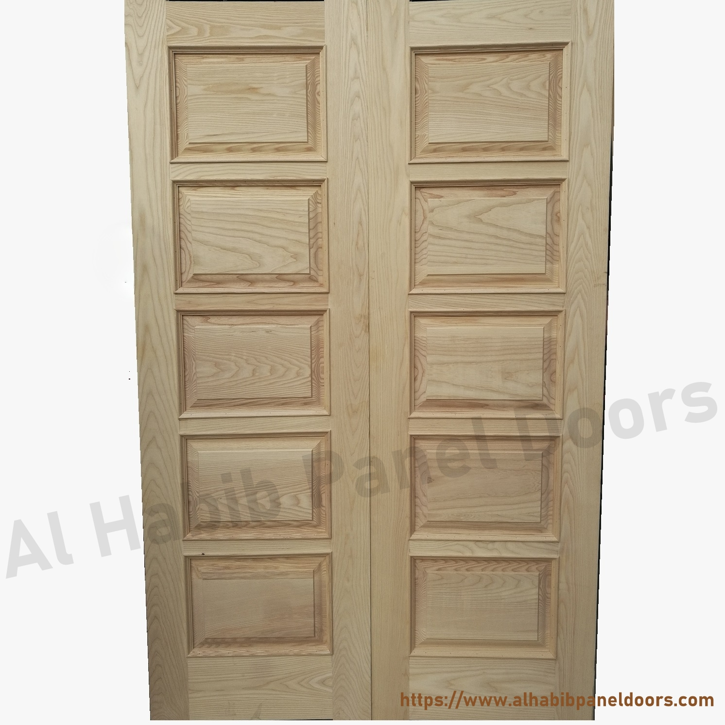 Ash Solid Wood Main Double Door Hpd414 - Main Doors - Al Habib ...
