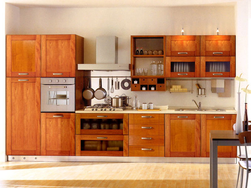 Ash Wood Kitchen Cabinets