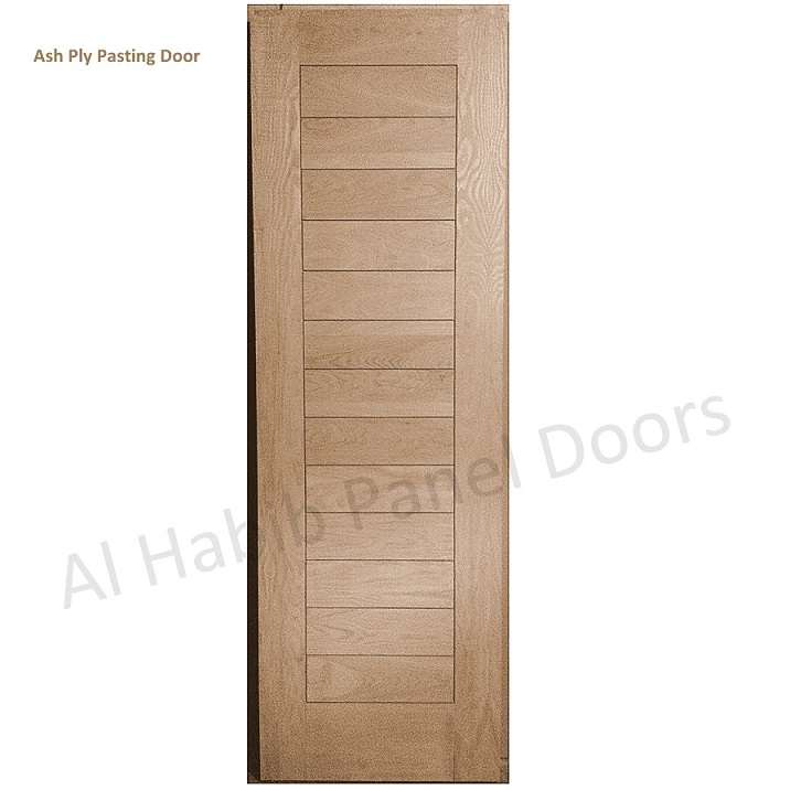 Ash Wood Ply Pasting Door