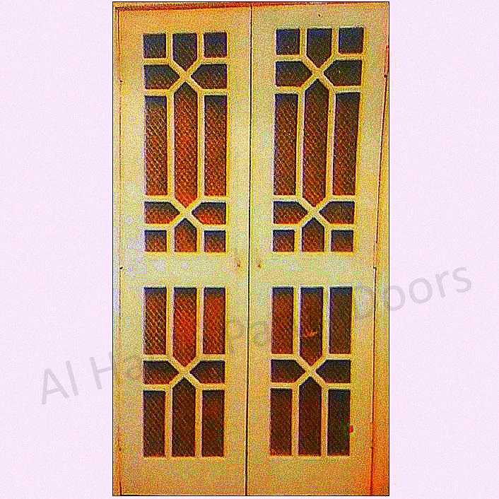 Ash Wooden Mesh / Jali Double Door