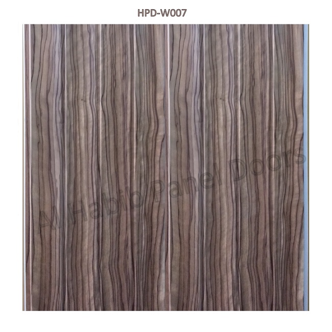 Beautiful PVC Wall Paneling Brown Wood Texture