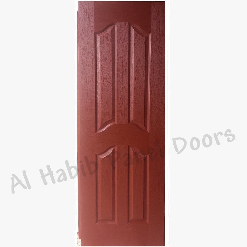 Choco Brown Four Panel Fiberglass Door