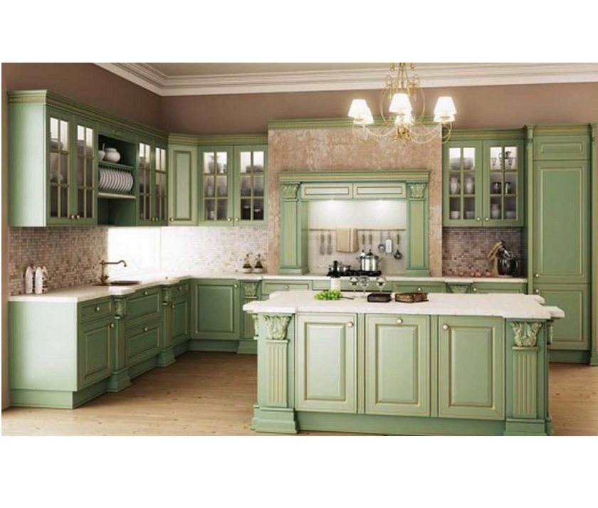 Classic kitchen design hpd456 kitchen design al habib for Classic style kitchen ideas