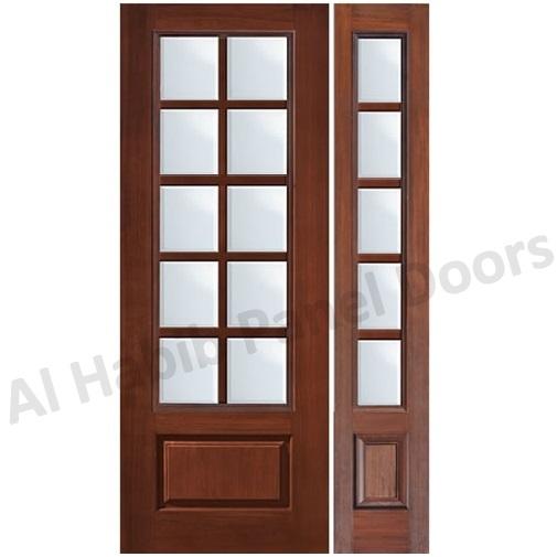 Wood Entry Doors With Glass : Glass wood door hpd panel doors al habib