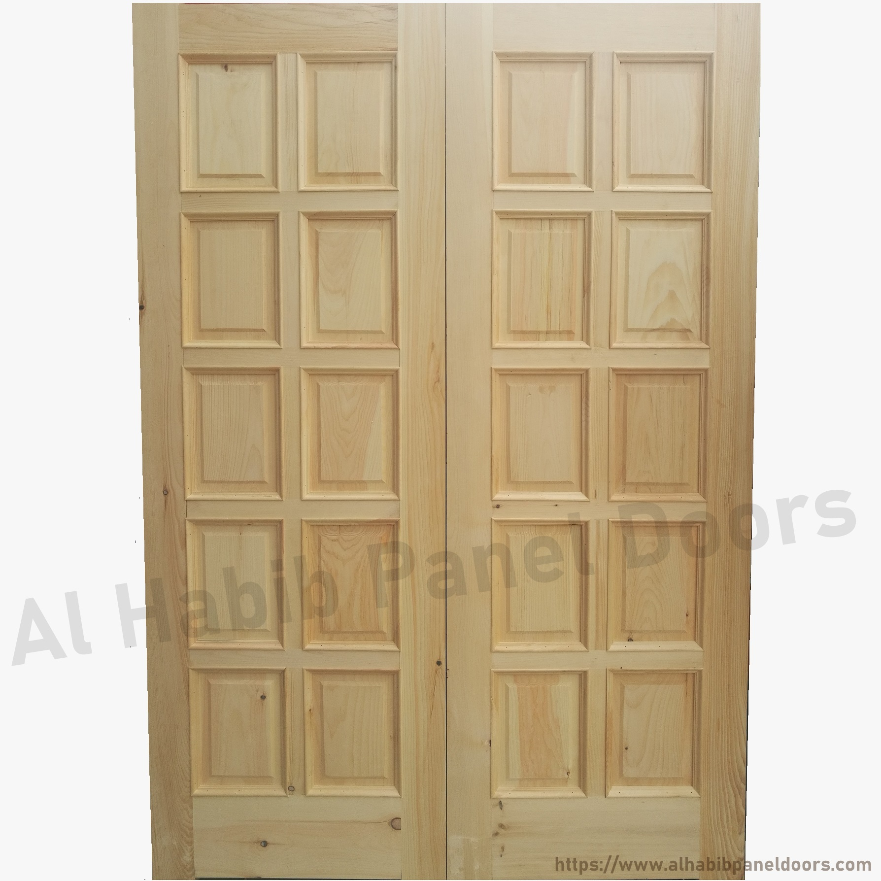 Diyar solid wood main double door hpd412 main doors al for Main door design of wood