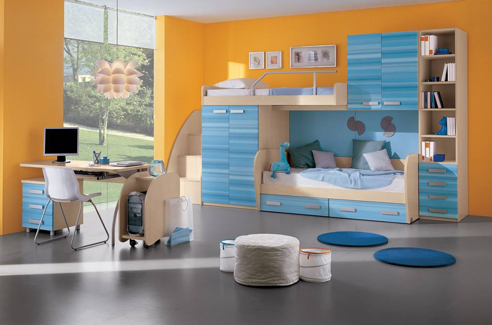 Double Beds Kids Room