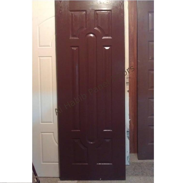 choco brown four panel fiberglass door hpd552 - fiber panel doors