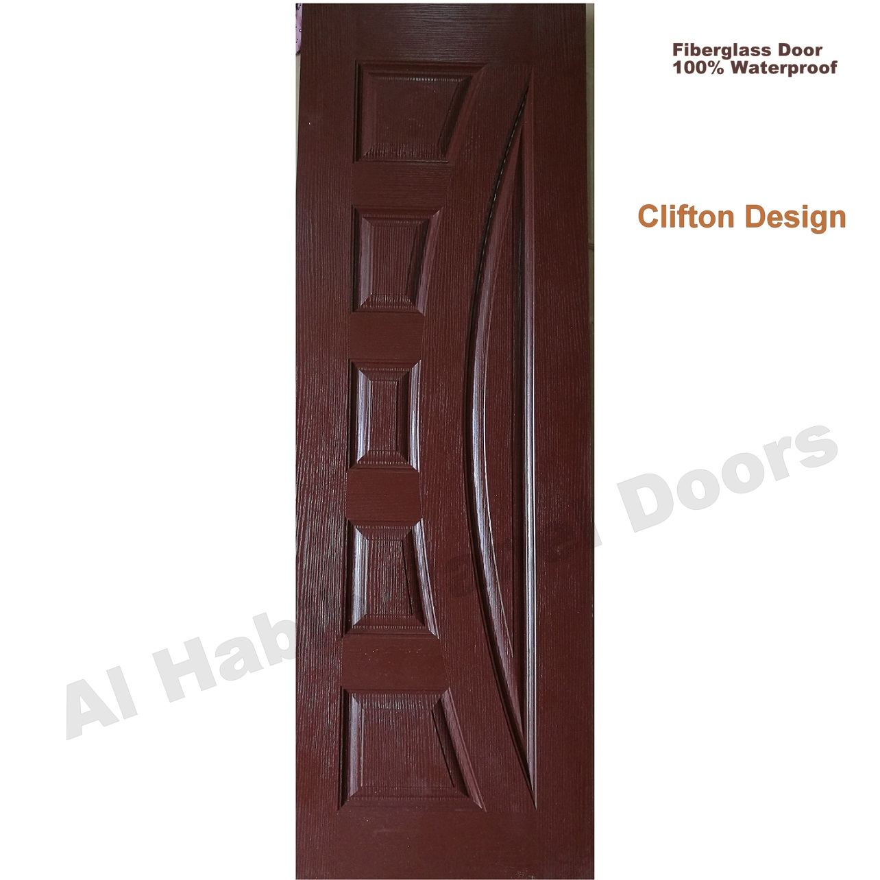 Fiberglass Door New Clifton Design