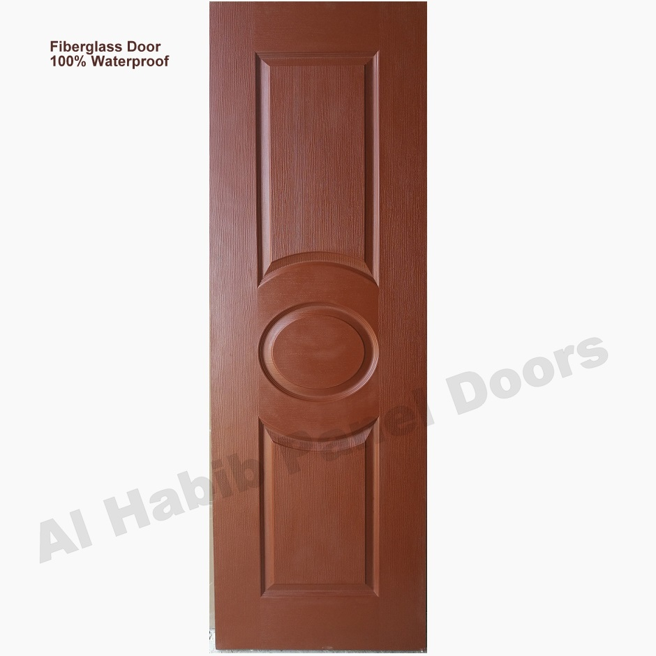 Fiberglass Door Teak Wood Color Eye Design