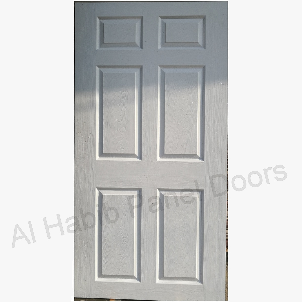 Fiberglass Six Panel Door White Color